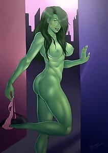 she hulk  pin up  reiner55  sexy