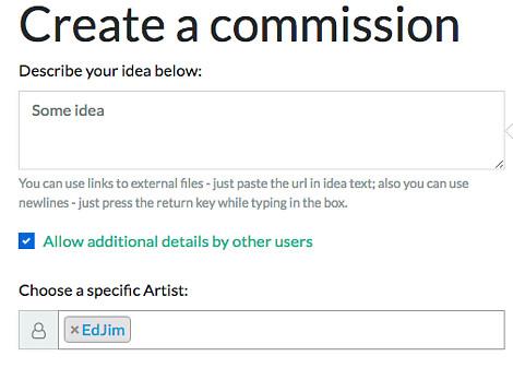 Choosing the artist for artwork