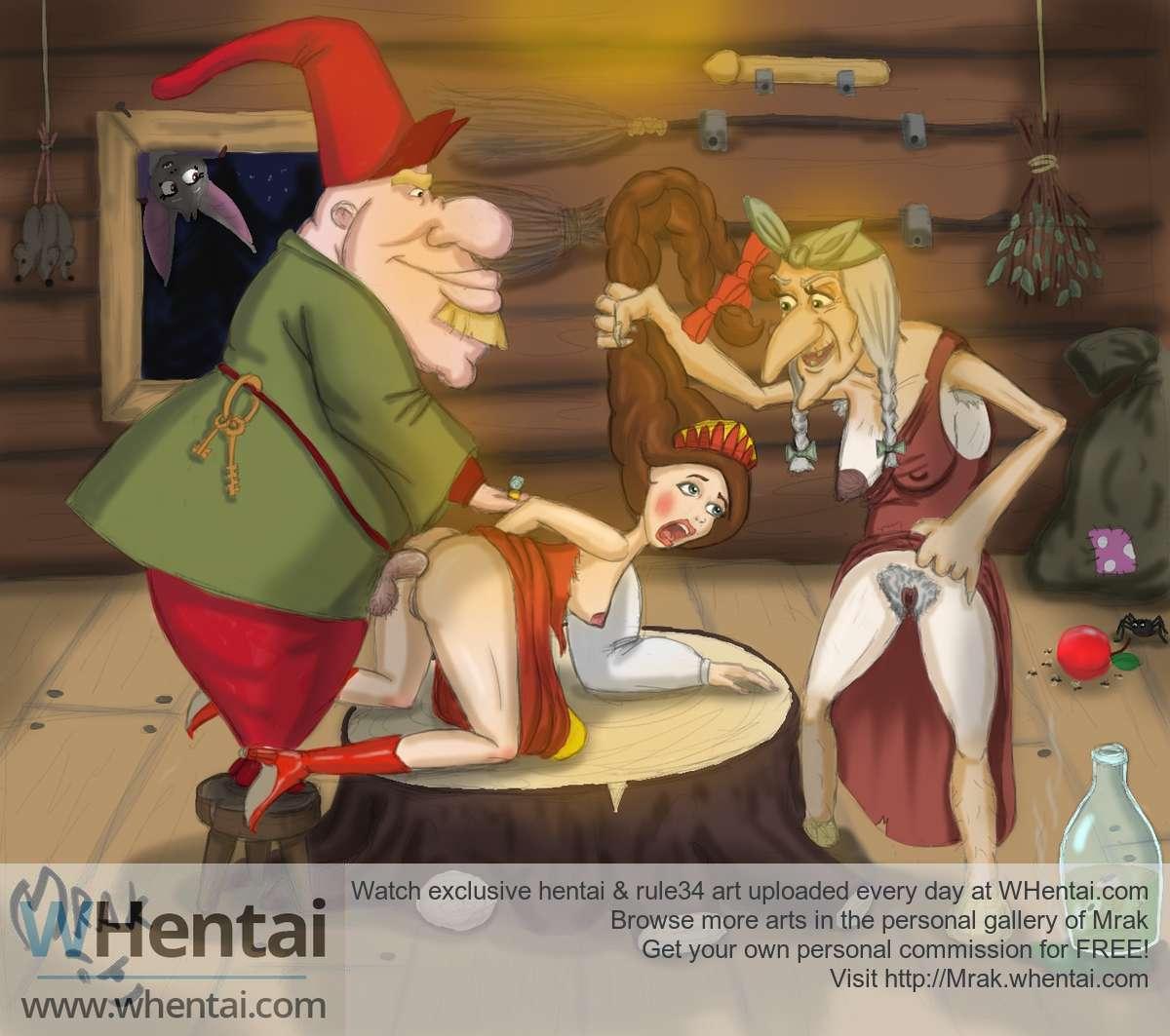 порно рисунки сказки