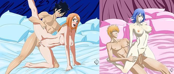 Bleach Fairy Tail Orihime Gray Ichigo Juvia Lockser
