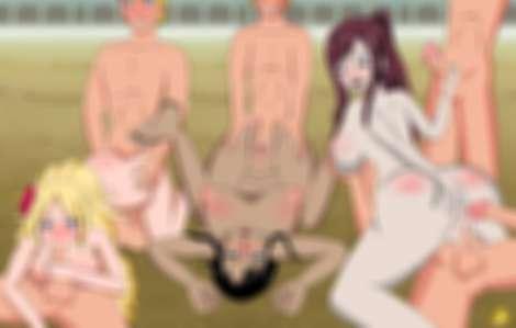 Erza Scarlet Jenny Realight Nico Robin Naruto Orgy Gangbang