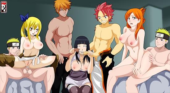 Naruto gang bang orgy