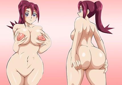 yugiohzexal yugioh zexal akaro tsukumo akaritsukumo ass boobs spreading mr123goku123