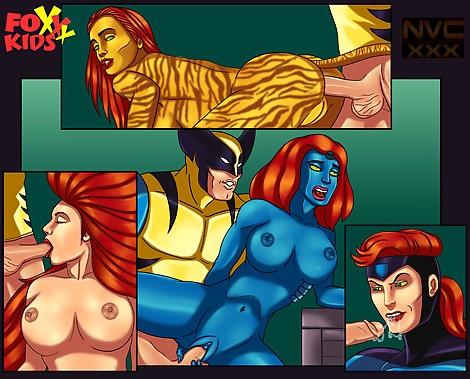 Mystique and Wolverine