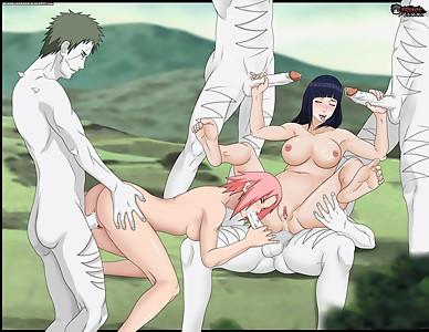 Hinata Sakura Zetsu GanGba Narutong