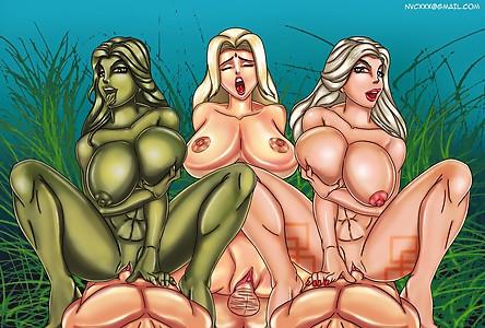 She Hulk  Tsunade  Amazon