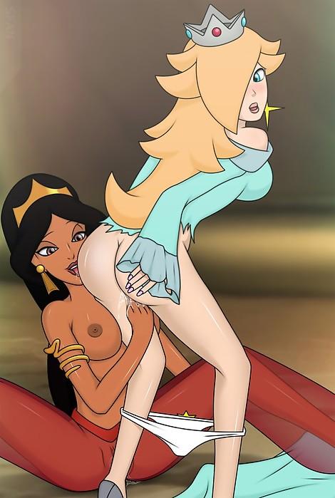 crossover Super Mario Bros Aladdin Jasmine Princess Rosalina Sfan