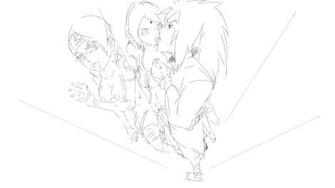Madara Sarada Sakura sketch