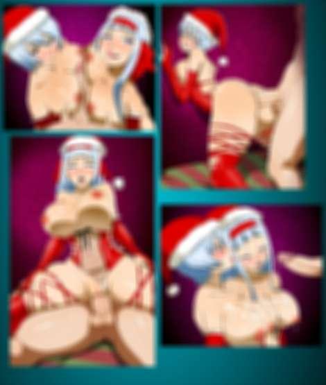 Yukino and Sorano in santas outfit