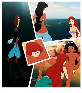 Jasmine Aladdin Ariel Little Mermaid