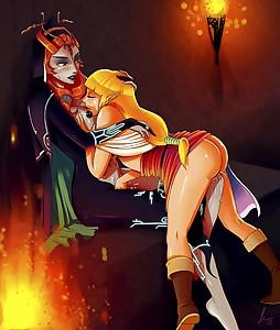 Zelda Midona Midna Skyward Sword Twillight Princess Yuri Sex hentai porn Sebastian