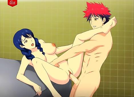 Tadokoro Megumi with Yukihira Soma
