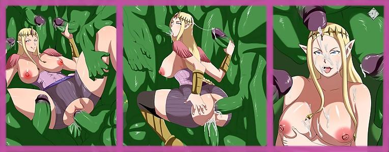 Zelda getting Shrekt