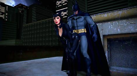 Batman x Catwoman Arkraham City animated gif