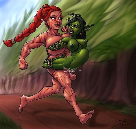 Futa Dwarf Goblin Jog