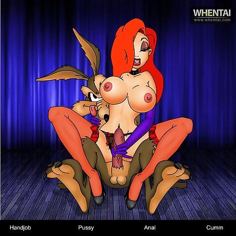 Djessica Rabbit and Wile E Coyote