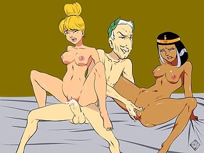 Mrs Geriatrix and Cleopatra fucked by caesar