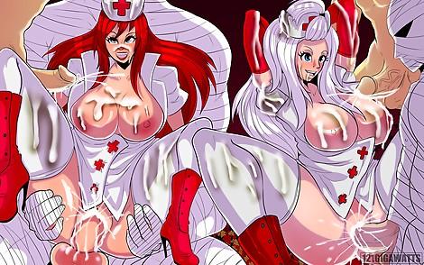 fairytail creampie erza mirajane nurses
