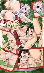 Queens of Whentai Tsunade Nico Robin New World Mirajane sexy santa lingerie  fucked positions Bukkake