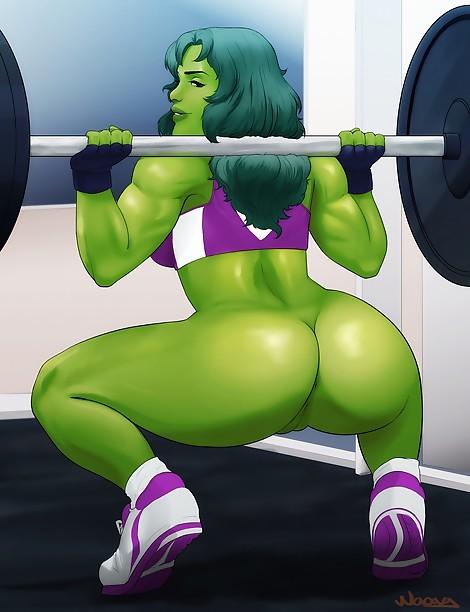 shehulk marvel gym ecchi
