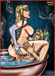 Zelda  Link  Tub  Steamy  Sex
