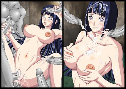 Hinata Hyuga being gangbanged by the White Zetsu