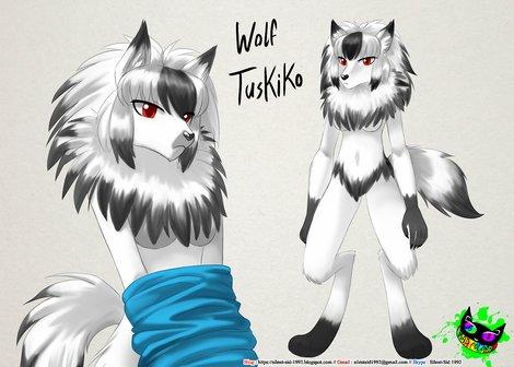 Tsukiko Wolf Design